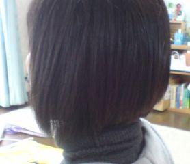 カラーリング、白髪染め2か月ぶり
