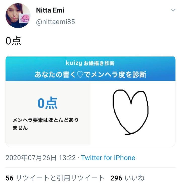 【画像】声優の新田恵海さん「メンヘラ度テストを受けてみました!結果は~」