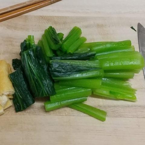 小松菜とうす揚げのお浸し (1)
