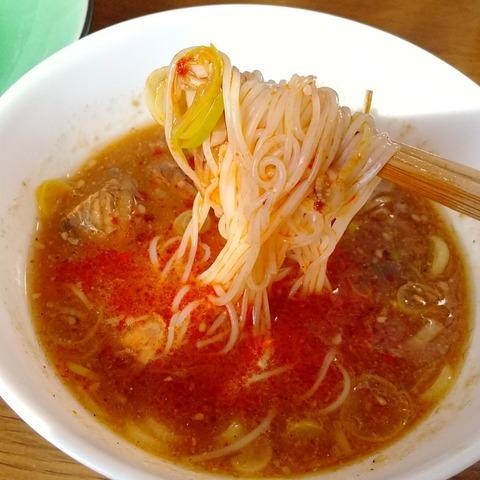 さば缶簡単魚介濃厚つけ麺 (1)