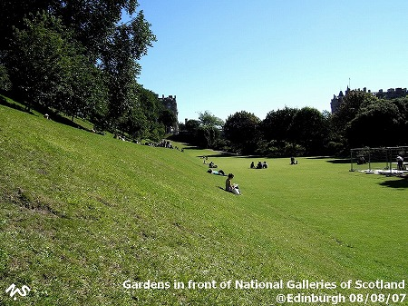 Gardens in front of National Galleries of Scotland