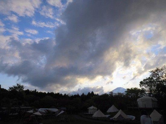 富士山太陽沈んだ