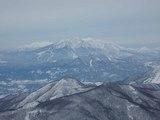 志賀高原から見る故郷の山、妙高