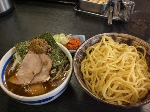 節の一分・節つけ麺+味玉+辛味挽肉