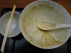 麺や食堂・うま!カレーそば・完食