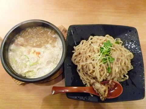 濃厚強火炊きつけ麺+半熟味玉