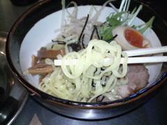 ZUND−BAR冬の味噌つけ麺・麺直食い