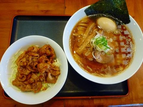 麺や食堂味玉そば+焼肉丼950
