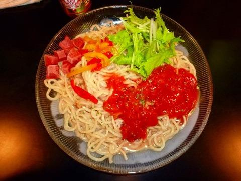 虎二 ゴマとトマトのWスープ冷し麺