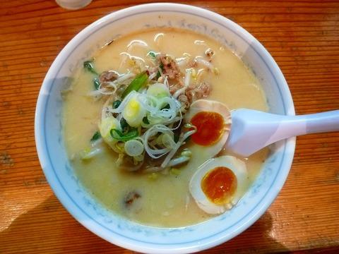 日の出製麺所・味噌ラーメン+味玉
