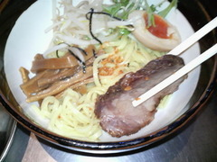 ZUND−BAR冬の味噌つけ麺・チャーシュー