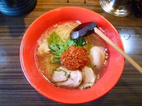 赤丸塩らー麺+味玉