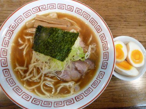 大勝軒金太郎・ラーメン(少なめ)+半熟味玉