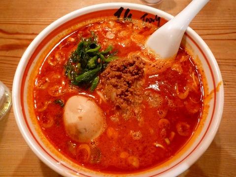 匠jang・坦々麺+2辛+とろーり半熟味玉子