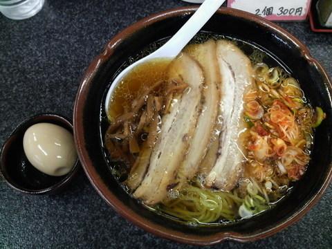 国界辛チャーシューメン+特製煮玉子