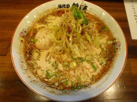 哲麺 哲辛ラーメン+味玉子