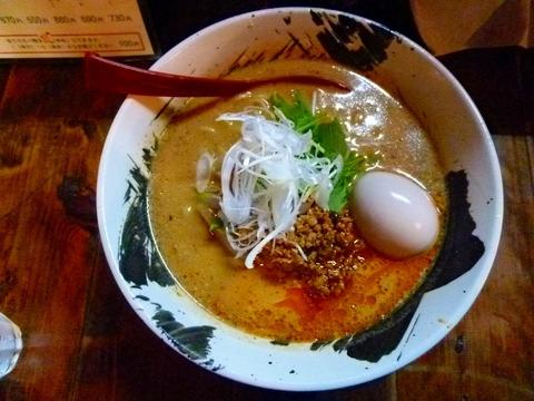 赤担々麺+味付け玉子
