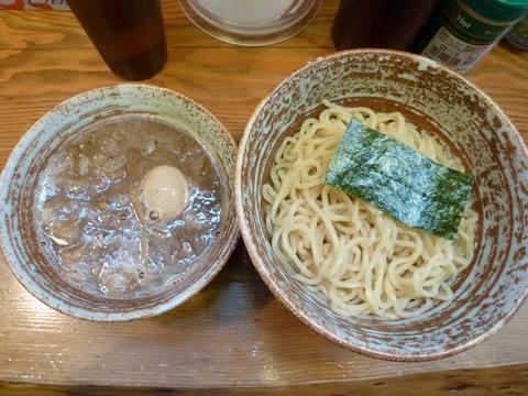 錦堂 煮魚つけ麺+味玉