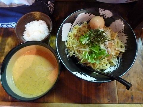 炎 赤坦々つけ麺+味玉+半ライス