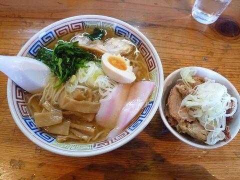 日の出製麺所・東京ラーメン・並+角チャー