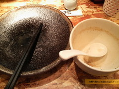 オハナ堂・魚介とんこつつけ麺・完食