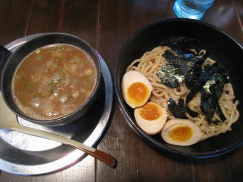 夜鳴き軒つけ麺+半熟味付玉子