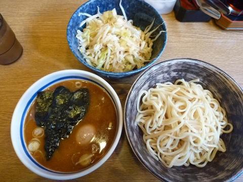 節物語・もりそば(小盛)+味付半熟タマゴ+野菜(普通盛)