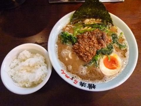 坦々麺・黒+半ライス