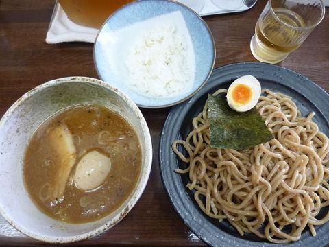 麺國屋 つけ麺極太麺+味付玉子