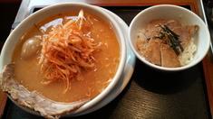 利休ピリカラ葱みそチャーシューらーめん+チャーシュー丼
