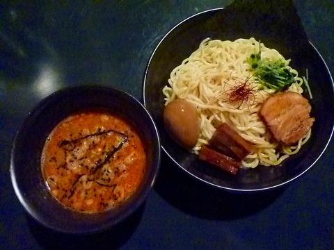 キノコ肉味噌つけ麺+味玉