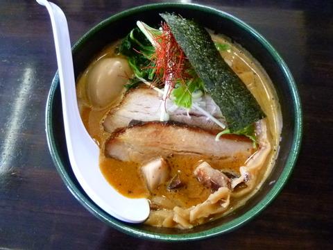 エビ味噌らーめん+肉・肉・玉子