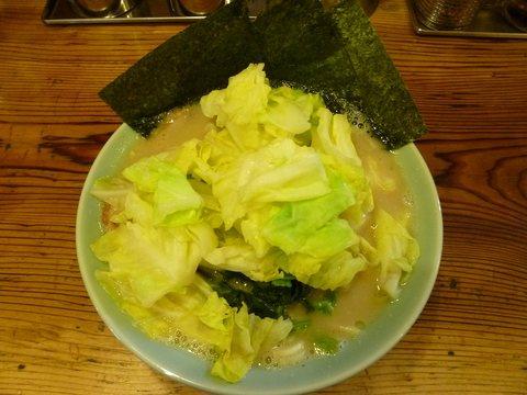半蔵 ラーメン+うずら+キャベツ
