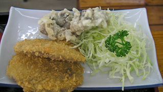 駿河定食のフライ