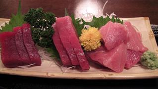 魚福の本マグロミックス定食のマグロ