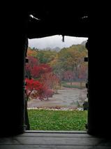 白川郷と紅葉
