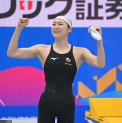 池江、東京五輪代表内定 100メートルバタフライでV