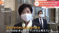 東京 過去最多493人感染、小池都知事「世代的にも広がり」