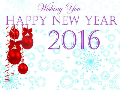 Wishing Happy New Year 2016 HD wallpaper