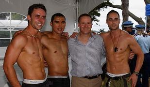 john key with gay boys