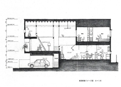 計画案・断面図1