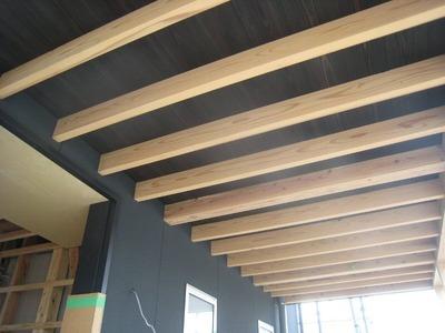 「展望階段の家」ポーチ天井