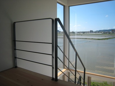 展望階段の家