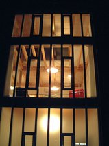 透き影の家 夜景(2005年竣工当時)