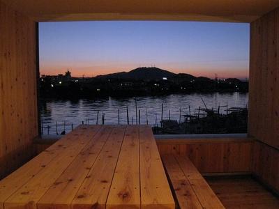 眉山の夕景