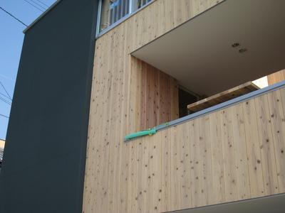 ラウンジ外部木製建具