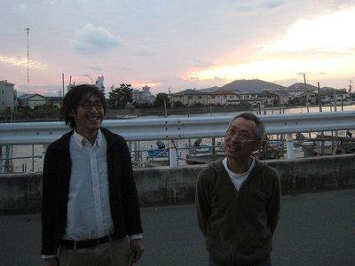 カメラマンの幸田さんと監督の今瀬さん