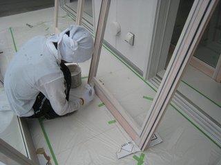 木製建具のペンキ塗り2
