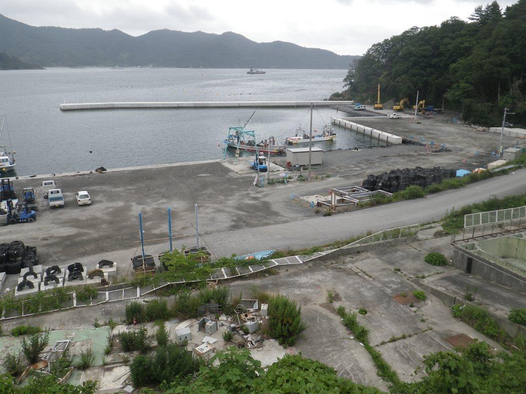 震災後の南三陸各地の漁港写真