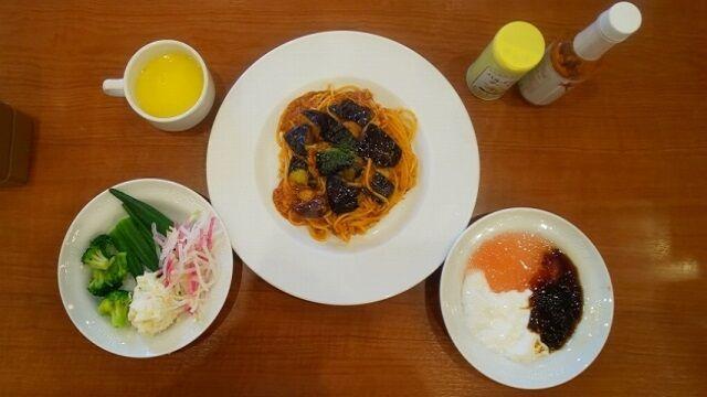 揚げなすのミートスパゲティ 1